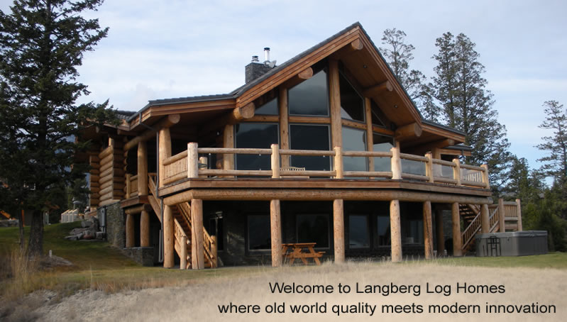 Log homes by langberg log homes for Home builders in canada